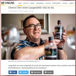 Gründer Olaf Hellhammer präsentiert seinen Langenfeld Dry Gin