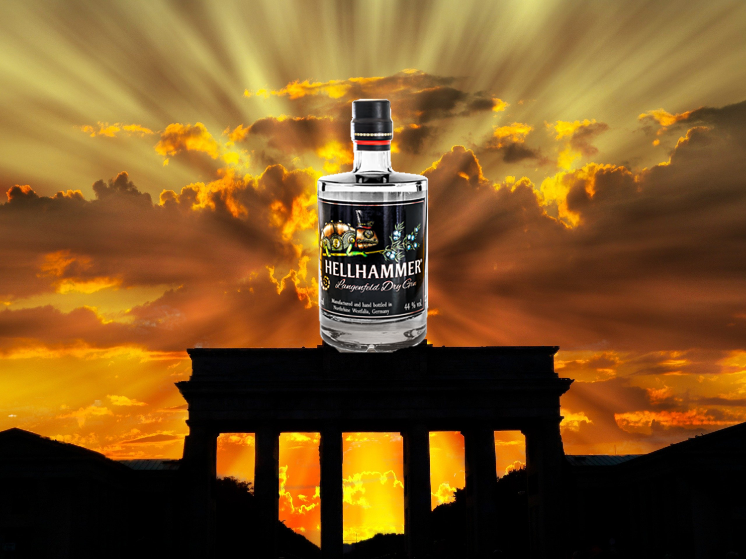 Hellhammer Gin goes Berlin Brandenburger Tor
