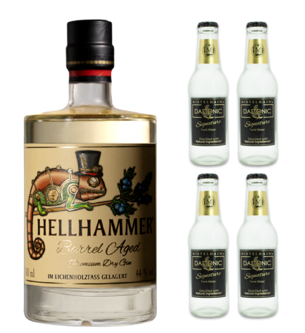 Hellhammer Barrel Aged Premium Dry Gin + 4 Mistelhains Signature
