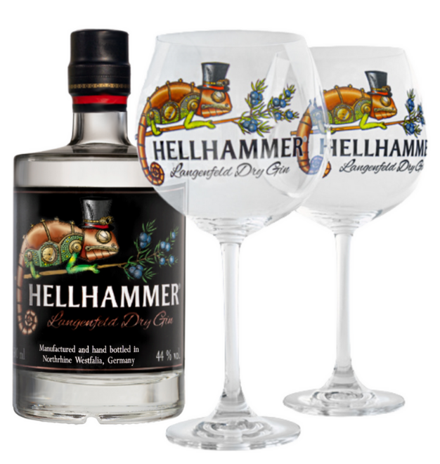 Sparset Hellhammer Langenfeld Dry Gin mit Gin Copas